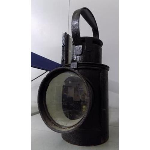 19 - Black railway lamp-LMS...