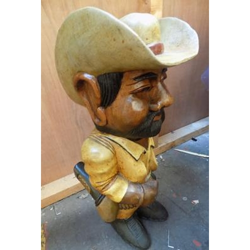 2a - Large carved cowboy  (25