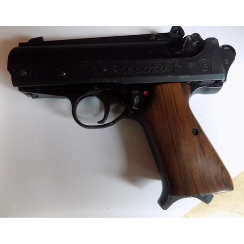 8 - Vintage Record Air Pistol 1.77, with pocket...