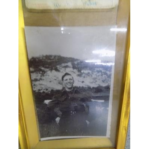 1125 - Vintage framed driving license and photo - 1940's/50's...