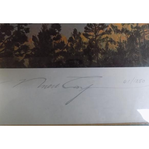 1108 - The Bridge at Remagen Print by Robert Taylor, signed by the artist and 5 signatures including; Lieut...