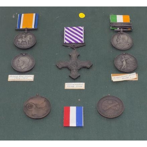 1133 - Display card of display medals...