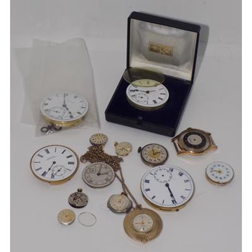1140 - Collection of watch parts...