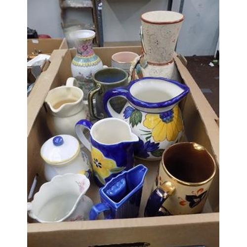 44 - Selection of jugs incl. Johnson Bros, Park Rose...
