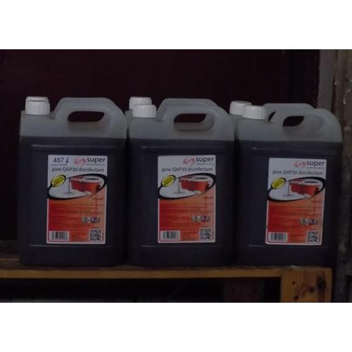 487 - 6 x 5 litre bottles of  disinfectant...
