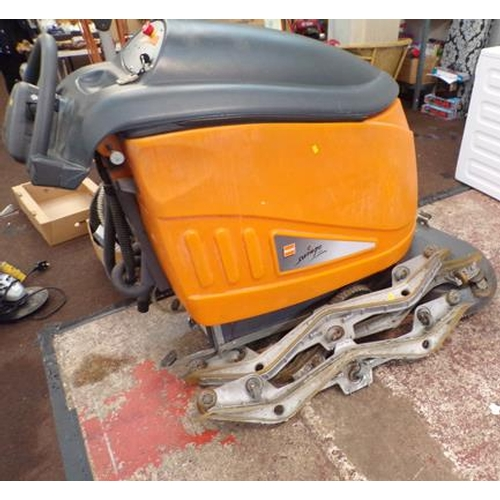 488 - Taski 9542 Swingo Industrial floor scrubber + dry - W/O, cost £5000 new with accessories and charger...