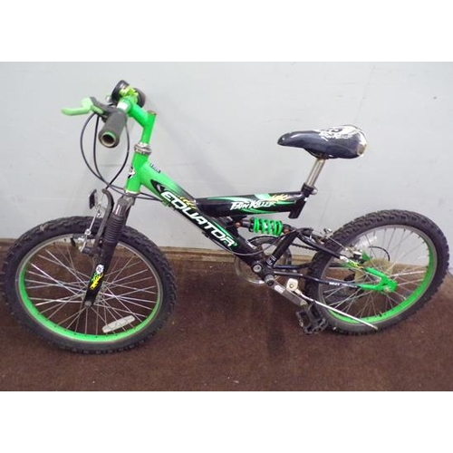 491 - Green Equator Pain Killer child's mountain bike...