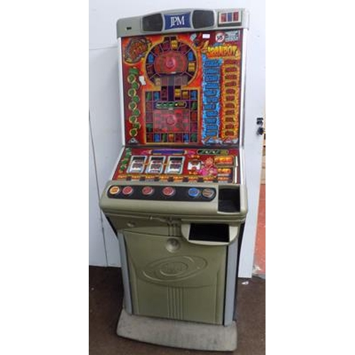 510 - J.P.M. fruit machine - W/O - accepts old £1 coins...
