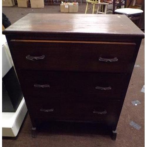 529 - Vintage drawer unit with Bakelite handles...