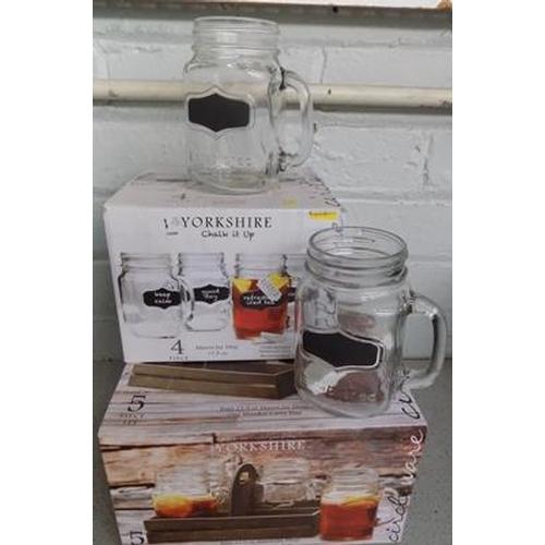 9a - 2x Boxes of new Mason jar mugs...