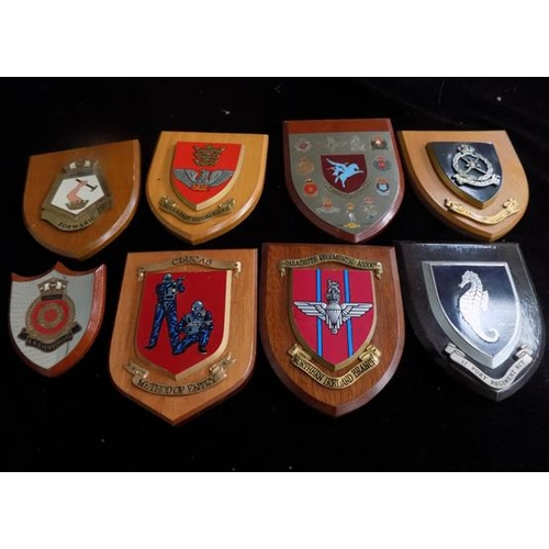 13 - Collection of regimental plaques...