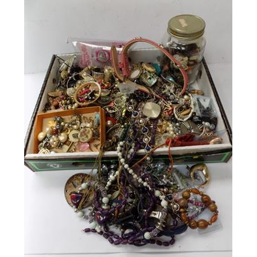 54 - Large selection of costume jewellery...
