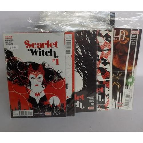 7 - 31 x Marvel comics incl. Scarlet Witch/ Spiderman/ Angela Queen of Hell , several no.1s...