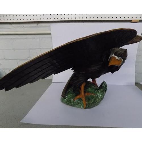 45 - Large carved wooden eagle...