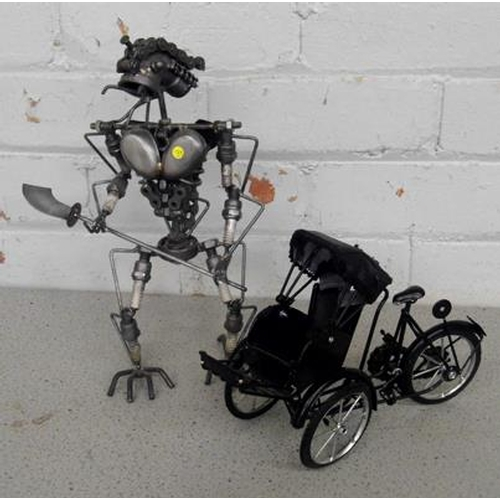 12a - Sculpture + rickshaw bike...