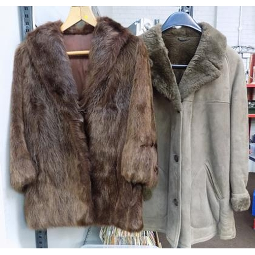 24a - Two vintage coats...