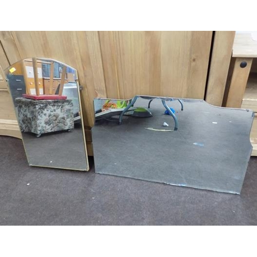 25 - Two vintage mirrors - one bevel edged...