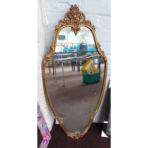 30 - Large heavy vintage mirror...