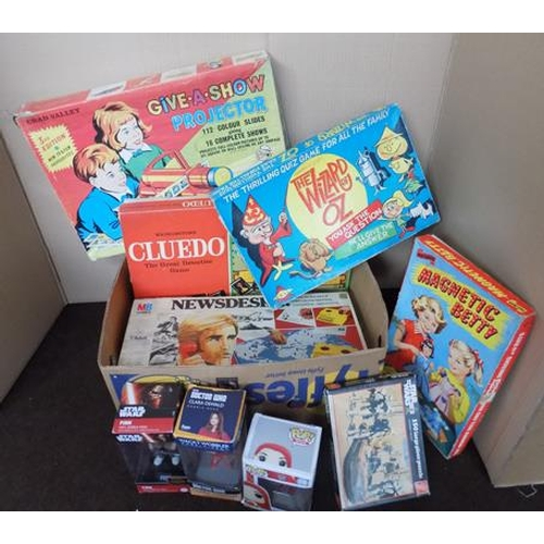 33 - Large box of vintage 1950's/ 60's boxed games and boxed 30 Space Explorer set...
