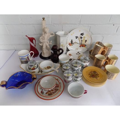 34 - Box of ceramics incl. Royal Worcester, Staffordshire etc....