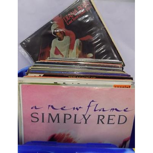38 - 70 vinyl LPs - Diana Ross, Simply Red, some white lables etc......
