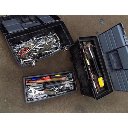 488 - Two boxes of tools, eg spanners...