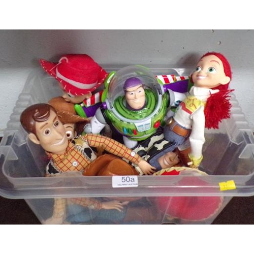50a - Toy story, large figures - Jess/Woody/Buzz...
