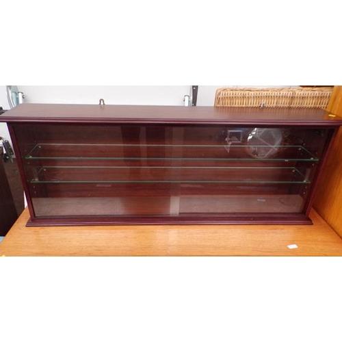 518 - Mahogany wall hanging display unit...