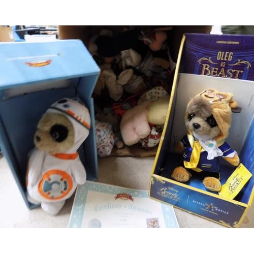 8 - Box of vintage puppets - beanies and Meerkat boxed toys (Oleg)...