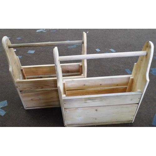 488 - 2x Amish style tool boxes/planters...