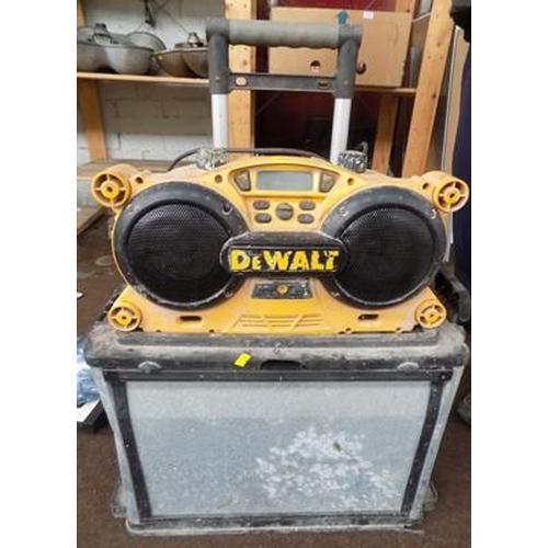 500 - Dewalt radio and tool trolley...