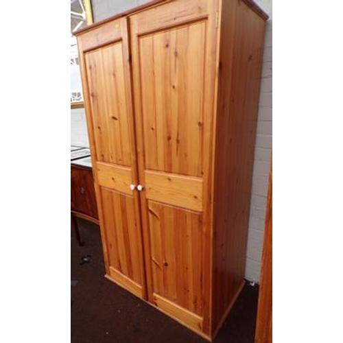 504 - Pine double wardrobe...