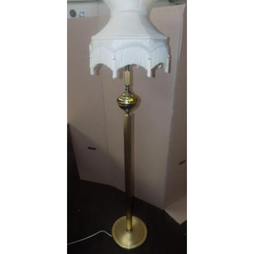 509 - Vintage brass lamp stand...