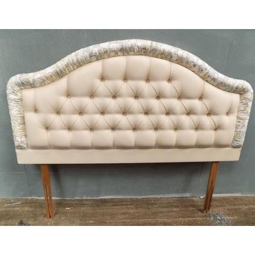 520 - Double upholstered headboard...
