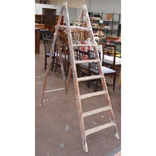 481 - Set of wooden stepladders...