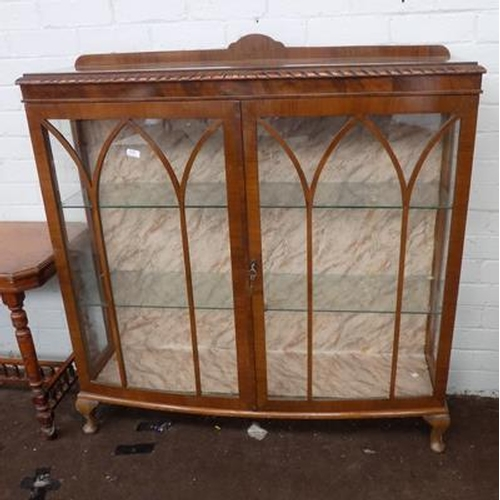 506 - Bow fronted china display cabinet...