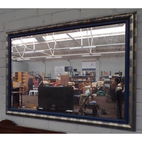 508 - Modern framed mirror approx 40x28 inches...