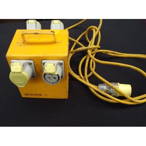 481 - 110v 4 way splitter box...