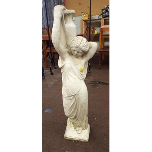 490 - Garden figure - lady holding an urn...