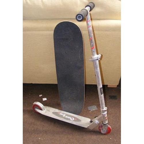 490a - Child's scooter & skateboard...