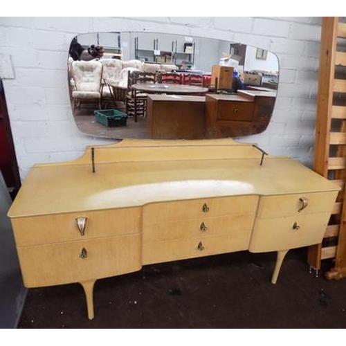 501 - Retro sideboard with glass shelf...
