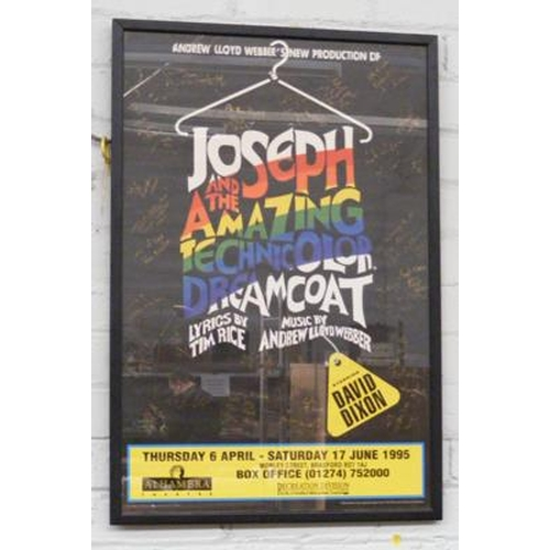 504a - Framed 'Joseph & The Amazing Technicolor Dreamcoat', fully signed cast poster staring David Dixon...