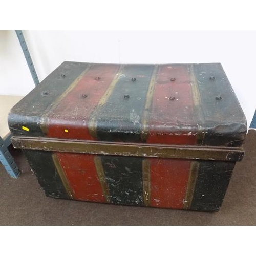 517 - Victorian painted metal box...