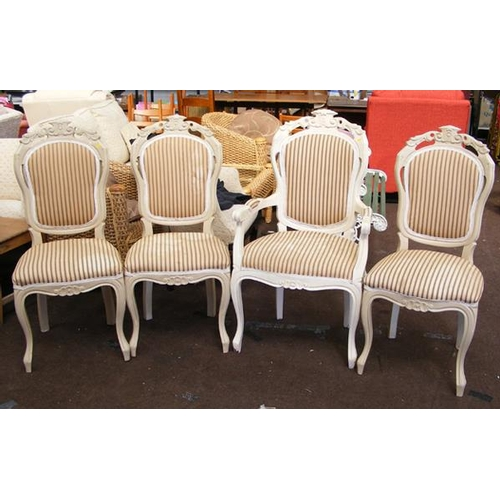 520a - Four Regency style dining chairs...