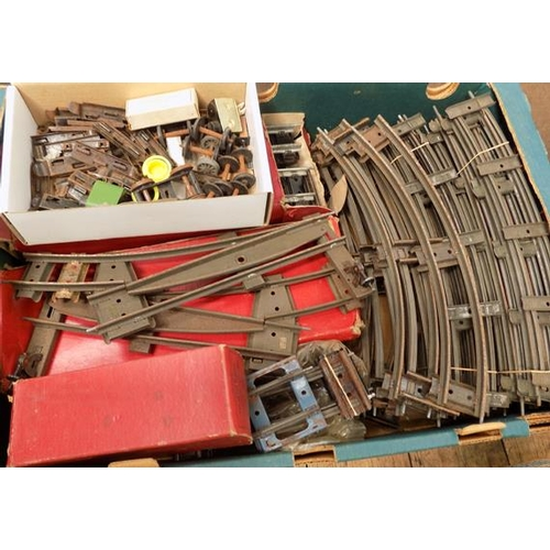 34 - Box of Hornby '0' gauge track + 6 points, some boxed...