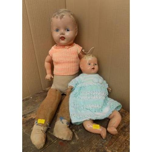 35 - 2 Antique dolls...