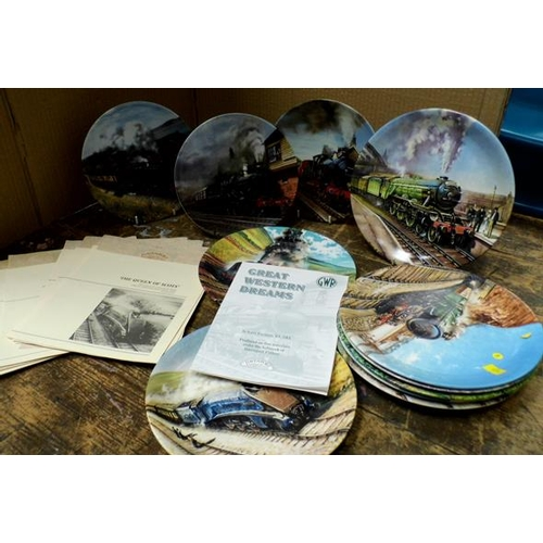 48 - Assortment of railway collectable Davenport plates with certificates...
