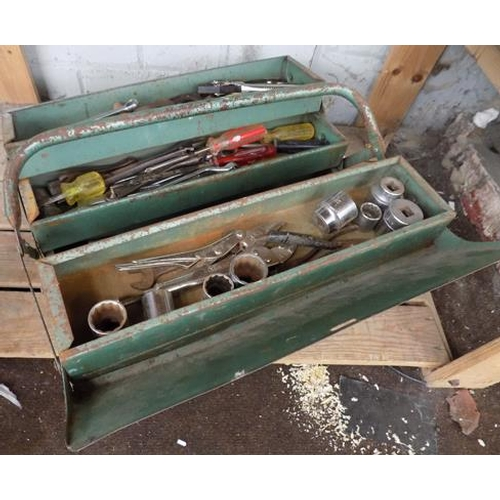 498 - Tool box and contents...