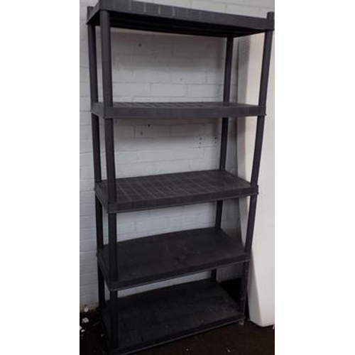 504 - Plastic shelving units - in 2 pieces...
