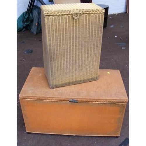 514 - Lloyd Loom style blanket & laundry baskets...